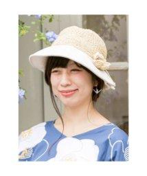 KAYA/【カヤ】花たたみハット 巾着ポーチ付き ホワイト/503344070