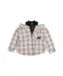 ZIDDY/肩だしリングファスナーチェックシャツ/503066753