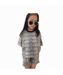 NEXT WALL/「420-08」キッズ セットアップ 子供服 女の子 ガールズ 半袖  5分袖 ショートパンツト 総柄 /503284537