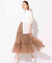 And Couture/ドットチュールティアードスカート/503294607