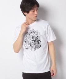 STYLEBLOCK/手書き風イラストプリント半袖クルーネックTシャツ/503303927