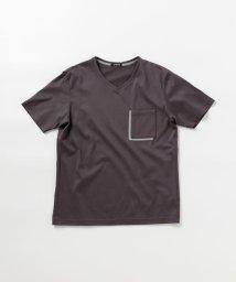 Stutostein/配色ポケット VネックTシャツ/503334585