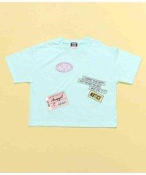 ANAP GiRL/チケット付肩開きTシャツ/503344594