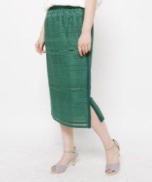 ORCHIDEA/レース風デザインタイトスカート/503345206