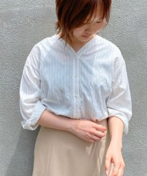 le.coeur blanc/キュプラライクVネックシャツ/502954963