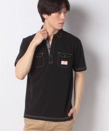 STYLEBLOCK/カノコ配色ステッチワーク半袖ポロシャツビジネスカジュアル/503325940