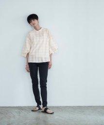 miette/ボリュームスリーブスタンドカラーシャツ/503336819