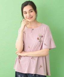 Jocomomola/Acanthus emb フラワー刺繍Tシャツ/503346554