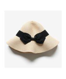 seiheishop/帽子 レディース つば広 リボン付き 麦わらHAT 折りたたみ 紫外線 対策 UVカット/503346816