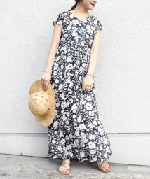 SHIPS WOMEN/【手洗い可能】フラワープリントワンピース/503346964