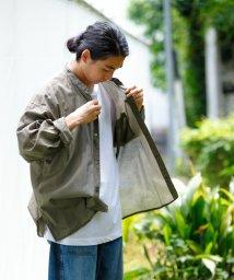 ADAM ET ROPE'/〈WEB・一部店舗限定〉オーバーサイズバンドカラー シアーシャツ/503347655