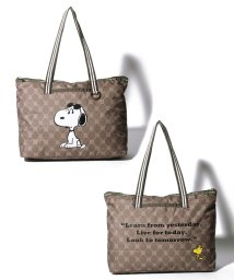 LeSportsac/DAILY EAST WEST TOTE スヌーピーレモノグラムトート/LS0024158