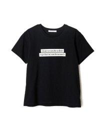 REDYAZEL/ボックスロゴプリントコンパクトTシャツ/503183032