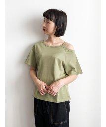 E hyphen world gallery/アシンメトリーTシャツ/503344962