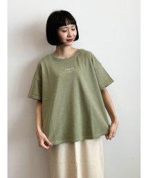 E hyphen world gallery/ロゴ刺繍スウェットTシャツ/503344966
