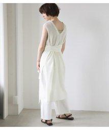 Avan Lily/リネンライクロングニットベスト/503350412