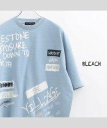 1111clothing/ビッグtシャツ メンズ ビッグシルエット レディース tシャツ 半袖 ビッグシルエットtシャツ 半袖tシャツ プリントtシャツ カットデニム tシャツ 落書き /503352264