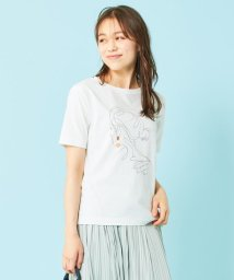 any SiS S/【ecolofriend】アートプリント Tシャツ レディ/503352300