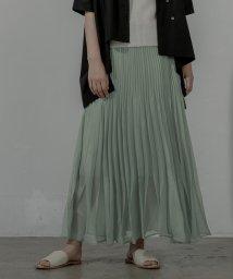 miette/ランダムプリーツシアーロングスカート/503353366