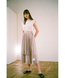 CLANE/3WAY LAYER PLEAT SKIRT/503353475