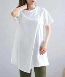 ANDJ/オーガニックコットンアシンメトリーTシャツ/503356167