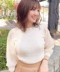 Noela/【美人百花10月号掲載】シアースリーブドッキングニット /503356346