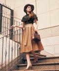 Noela/【美人百花10月号/andGIRL9月号掲載】レザーフレアスカート /503356362