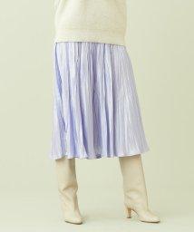 Ballsey/【WEB先行予約】グロッシーサテンプリーツ ミディスカート/503357033