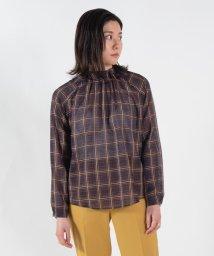 TOMORROWLAND collection/【WEB先行予約】シアープレイド ネックギャザーブラウス/503357035