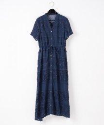 GRACE CONTINENTAL/ドットシフォン刺繍ワンピース/503357591