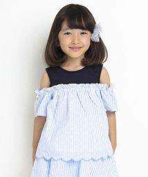 SLAP SLIP/天竺花刺繍肩開きトップス/503091855