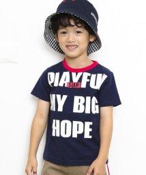SLAP SLIP/天竺シャドーボーダーロゴプリントTシャツ/503091867