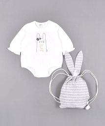 e-baby/ウサギ プリント ロンパース + リュック セット/503327303