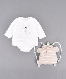 e-baby/クマプリント ロンパース+クマ リュック セット/503327306