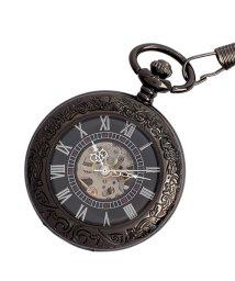 SP/懐中時計 PWA002-BLK ポケットウォッチ 手巻き 機械式時計 メンズ時計/503346804