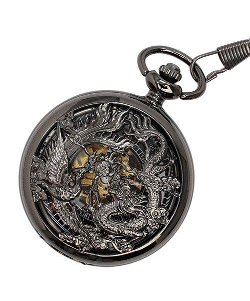 エスピー 懐中時計 PWA003−BLK ポケットウォッチ 手巻き 機械式時計 メンズ時計 メンズ ブラック系 - 【SP】