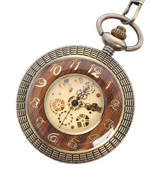 エスピー 懐中時計 PWA008−GLD ポケットウォッチ 手巻き 機械式時計 メンズ時計 メンズ ゴールド系 - 【SP】