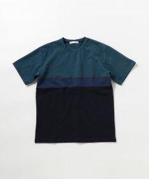 GLOSTER/ポンチ切替Tシャツ/503350223