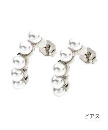 cream dot/女性らしさを纏う、5連パールのイヤリング/ピアス/503357770