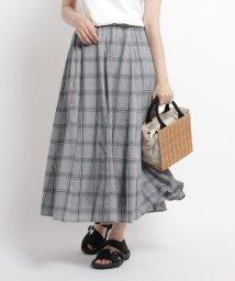 Dessin/【XS~Lサイズあり・洗える】ガーゼチェックフレアスカート/503358078