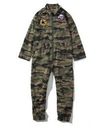 DIESEL/DIESEL(ディーゼル) Kids & Junior ワッペンデザインカモ柄ジャンプスーツ/503358174