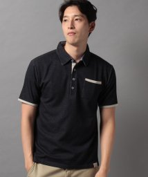 STYLEBLOCK/ポンチ裏ストライプ配色半袖ポロシャツビジネスカジュアル/503342865