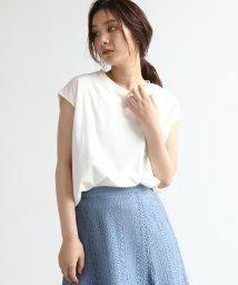 OZOC/[洗える]GIZAコットンフレンチTシャツ/503360316