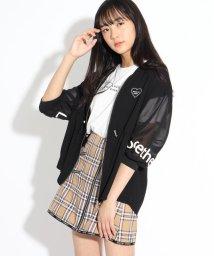 PINK-latte/7分袖透けラインブルゾン&Tシャツ/503360321