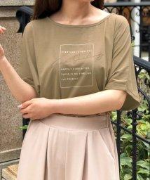 Julia Boutique/オリジナルプリントロゴTシャツ・トップス /510732 ロゴT 半袖 トップス レディース ロゴTシャツ おしゃれ 韓国 Tシャツ 春夏 カットソー/503360656
