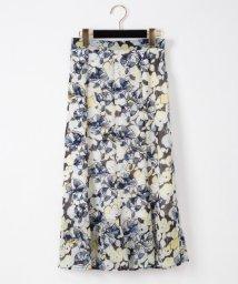GRACE CONTINENTAL/フラワープリントマーメードスカート/503360978