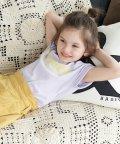 ROPE' PICNIC KIDS/【ROPE' PICNIC KIDS】フレンチスリーブメッセージTシャツ/503361087