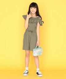 KUMIKYOKU KIDS/【130-140cm】オフショルダーコンビネゾン/503361531