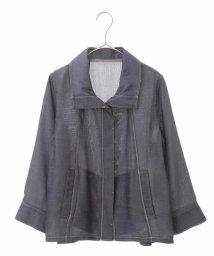 HIROKO BIS/【洗濯機で洗える】カチオンシャンブレージャケット/503361580