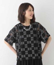HIROKO BIS/【洗える】オパール顔料プリントTシャツ/503361586